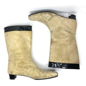 Dolce & Gabbana Vintage Tan and Black Boots